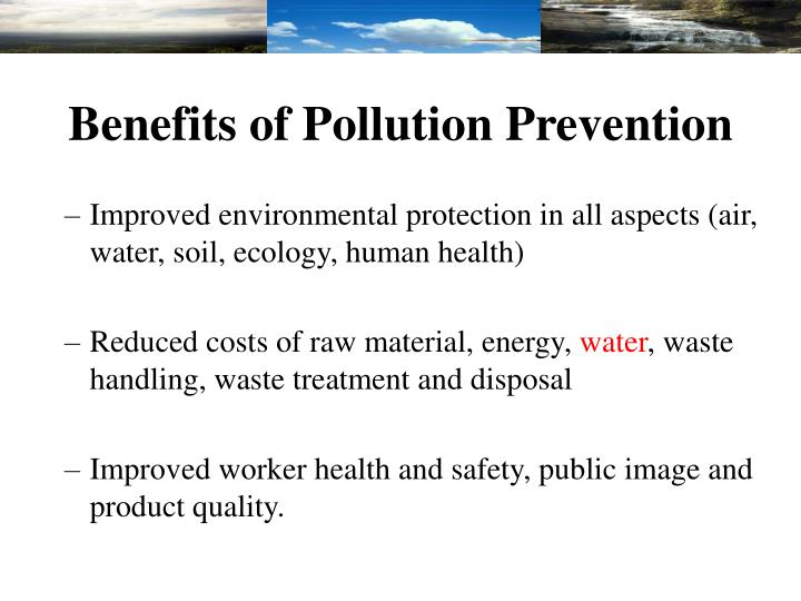 Benefits of Pollution Prevention