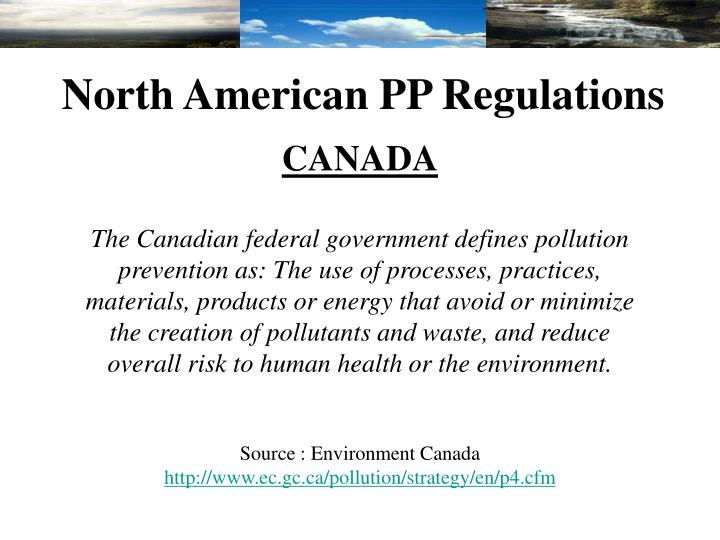 North American PP Regulations