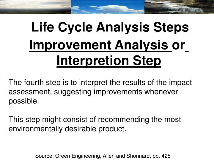 Life Cycle Analysis Steps