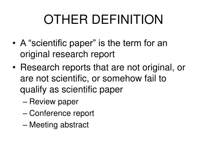 OTHER DEFINITION