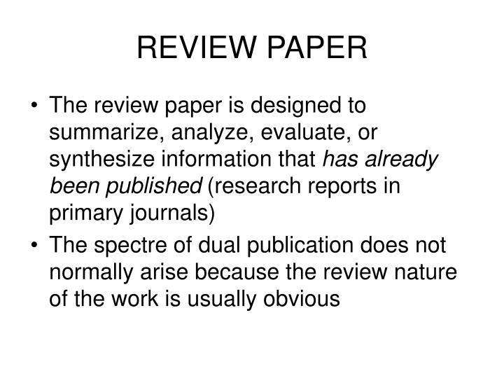 REVIEW PAPER