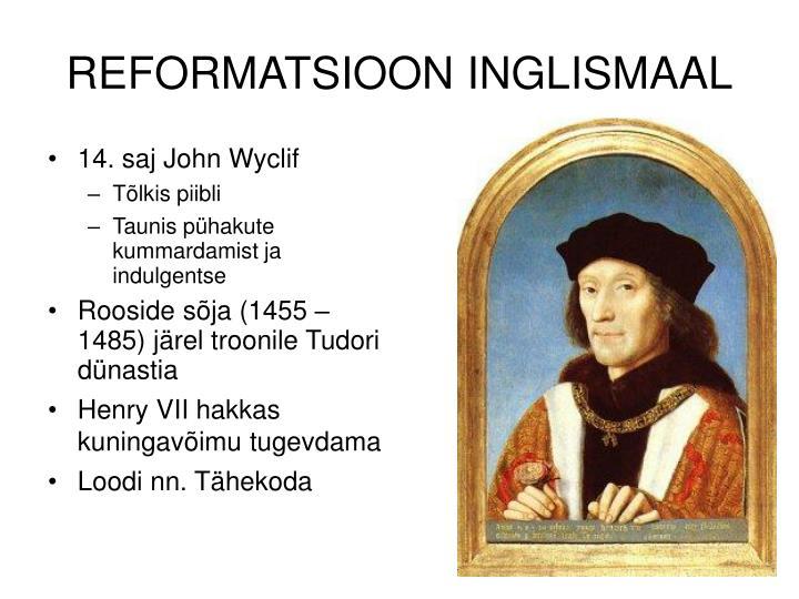 REFORMATSIOON INGLISMAAL