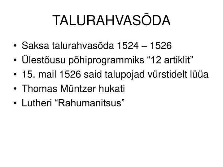 TALURAHVASÕDA