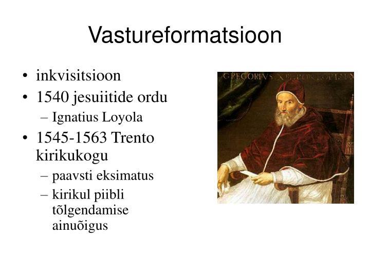 Vastureformatsioon