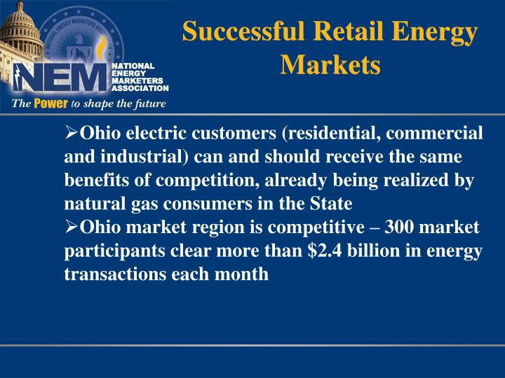Successful Retail Energy Markets