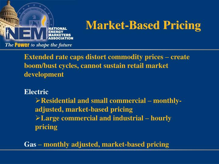 Market-Based Pricing