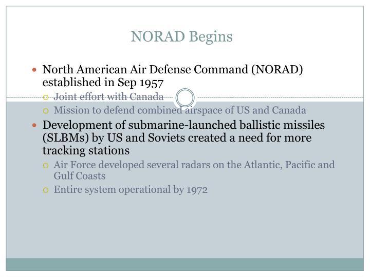 NORAD Begins