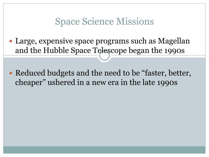 Space Science Missions