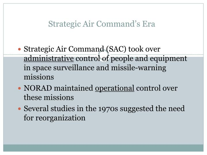 Strategic Air Command's Era
