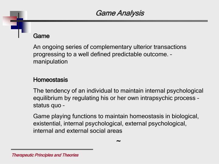 Game Analysis