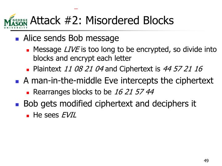 Attack #2: Misordered Blocks