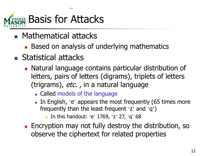 Basis for Attacks