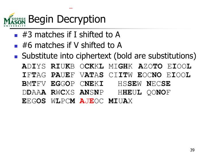 Begin Decryption
