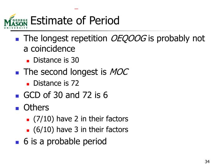 Estimate of Period