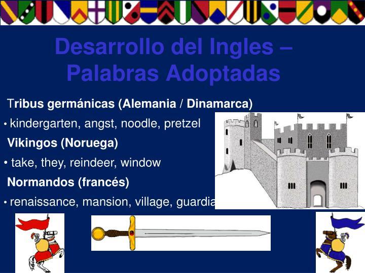 Desarrollo del Ingles – Palabras Adoptadas