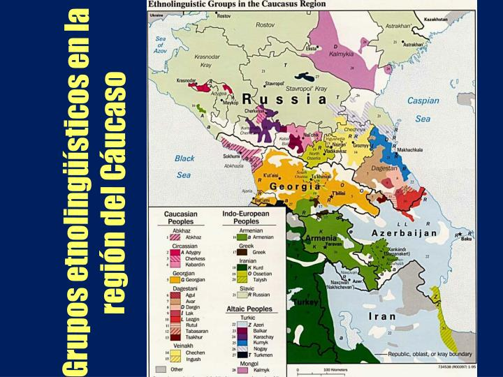 Grupos etnolingüísticos en la región del Cáucaso