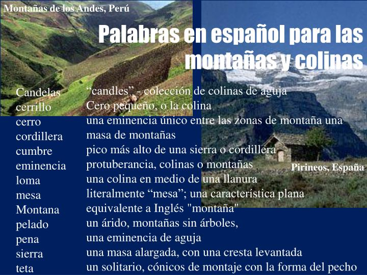 Montañas de los Andes, Perú