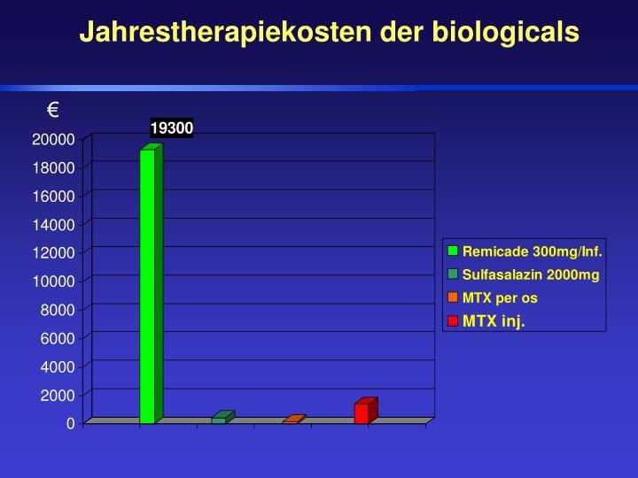Jahrestherapiekosten der biologicals