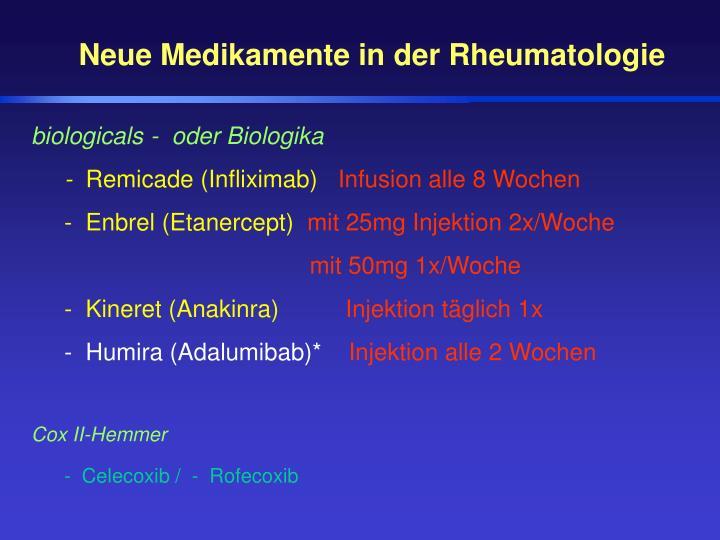 Neue Medikamente in der Rheumatologie