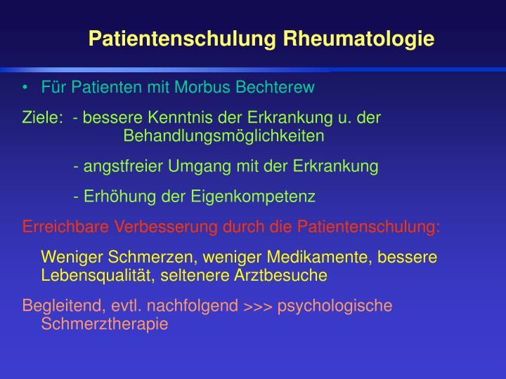 Patientenschulung Rheumatologie