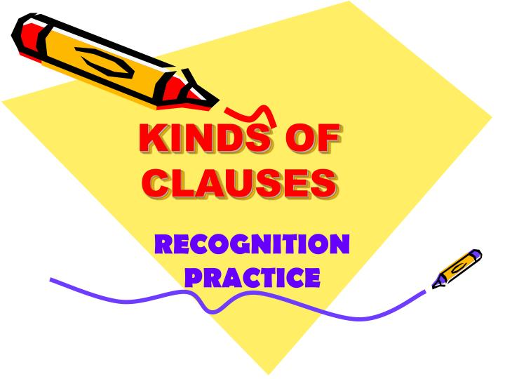 Kinds of clauses