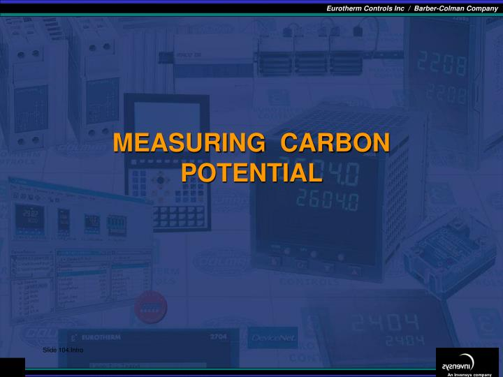 MEASURING  CARBON POTENTIAL