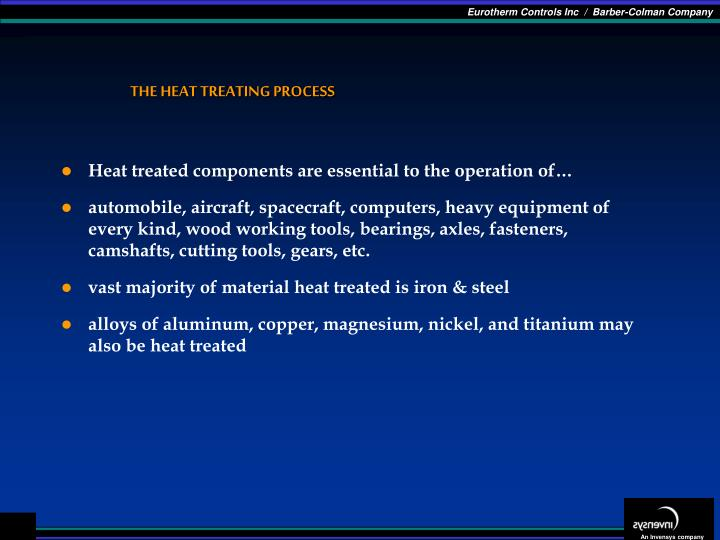 The heat treating process