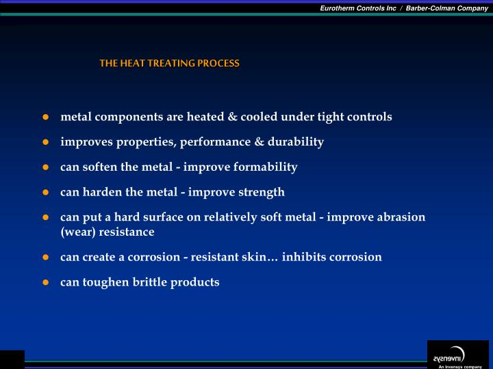 The heat treating process1
