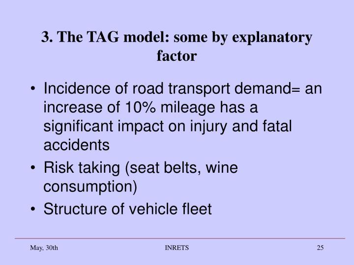 3. The TAG model: some by explanatory factor