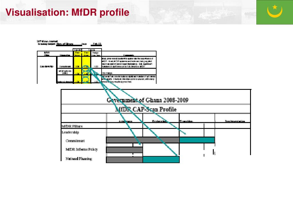 Visualisation: MfDR profile