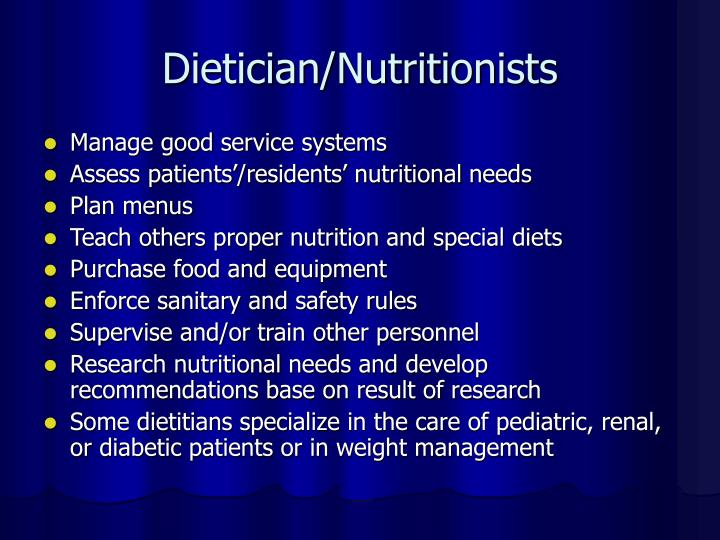 Dietician/Nutritionists