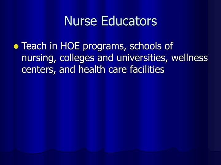 Nurse Educators