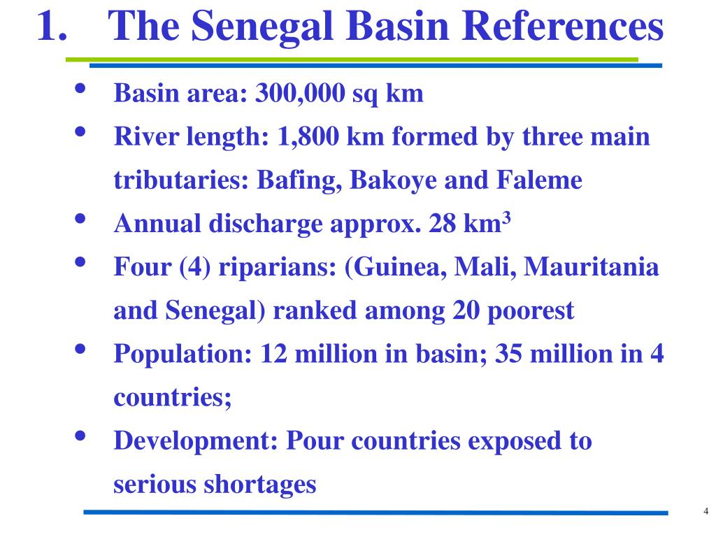 1.	The Senegal Basin References
