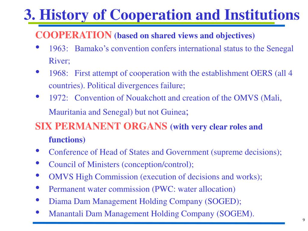 3. History of Cooperation and Institutions