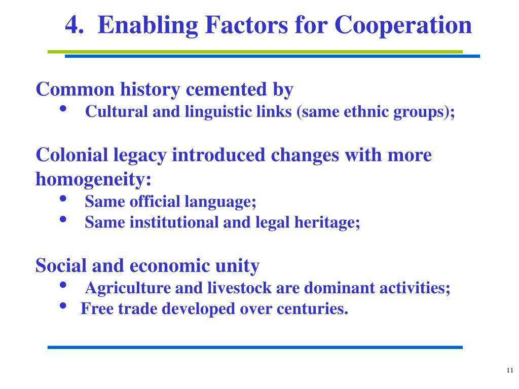 4.  Enabling Factors for Cooperation
