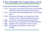 5 key principles for cooperation cont d
