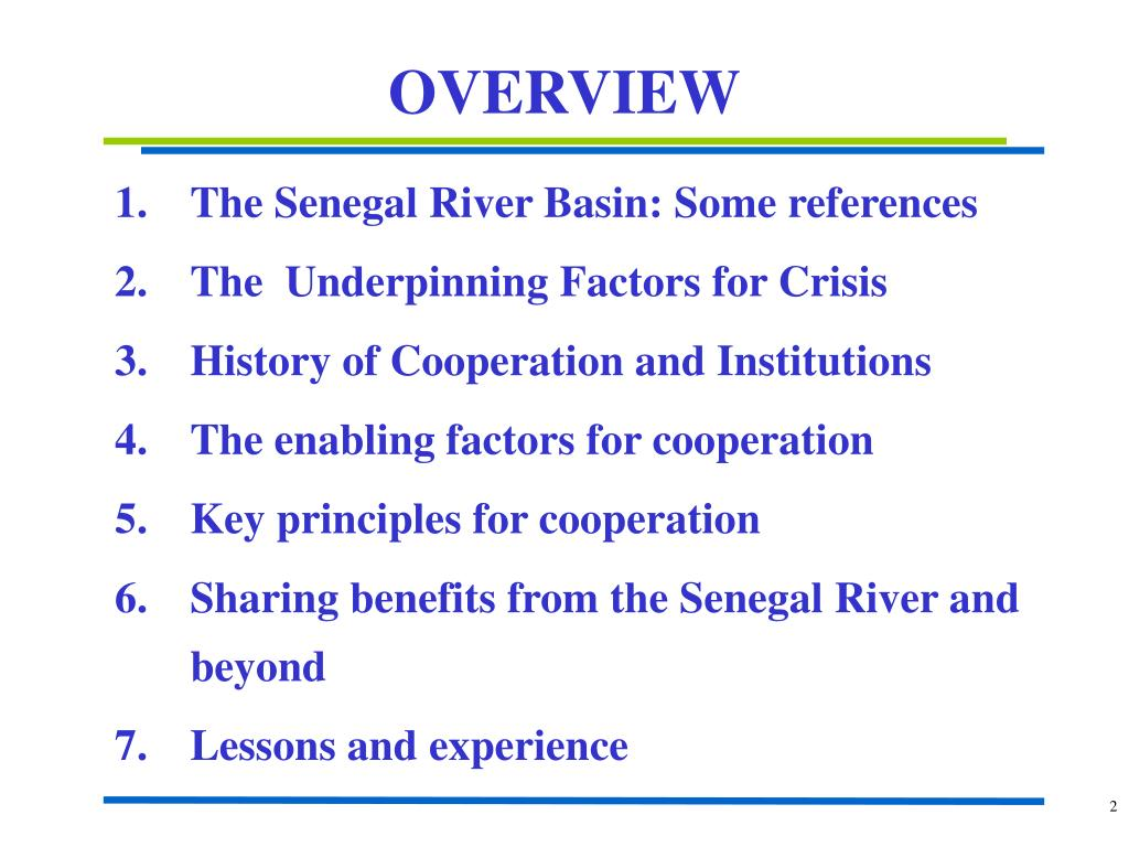 The Senegal River Basin: Some references