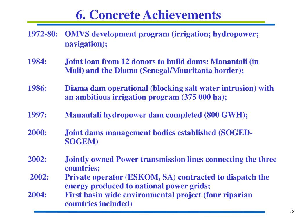 6. Concrete Achievements