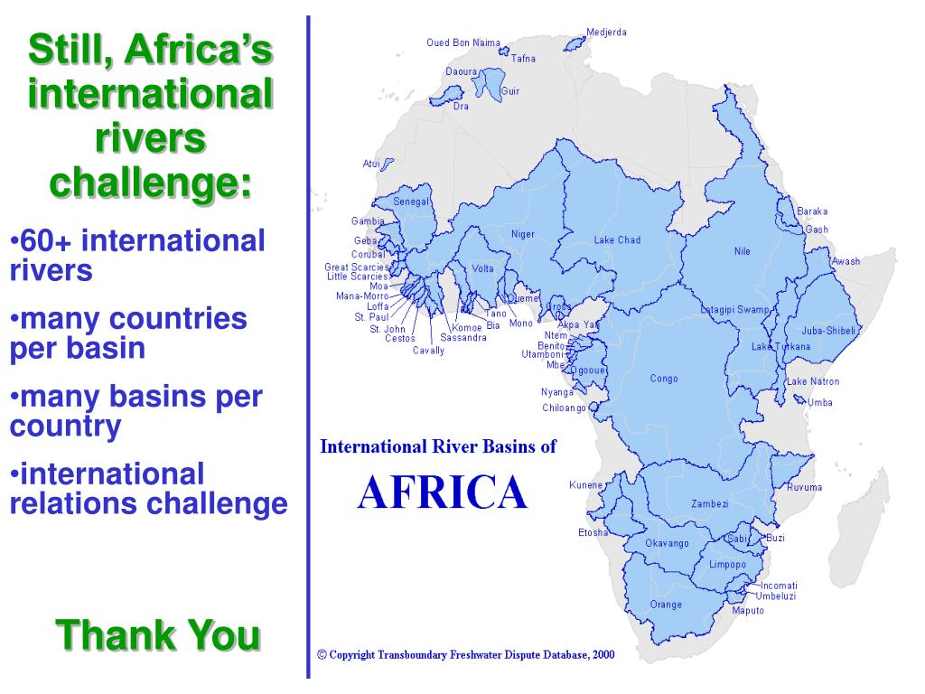 Still, Africa's international rivers challenge: