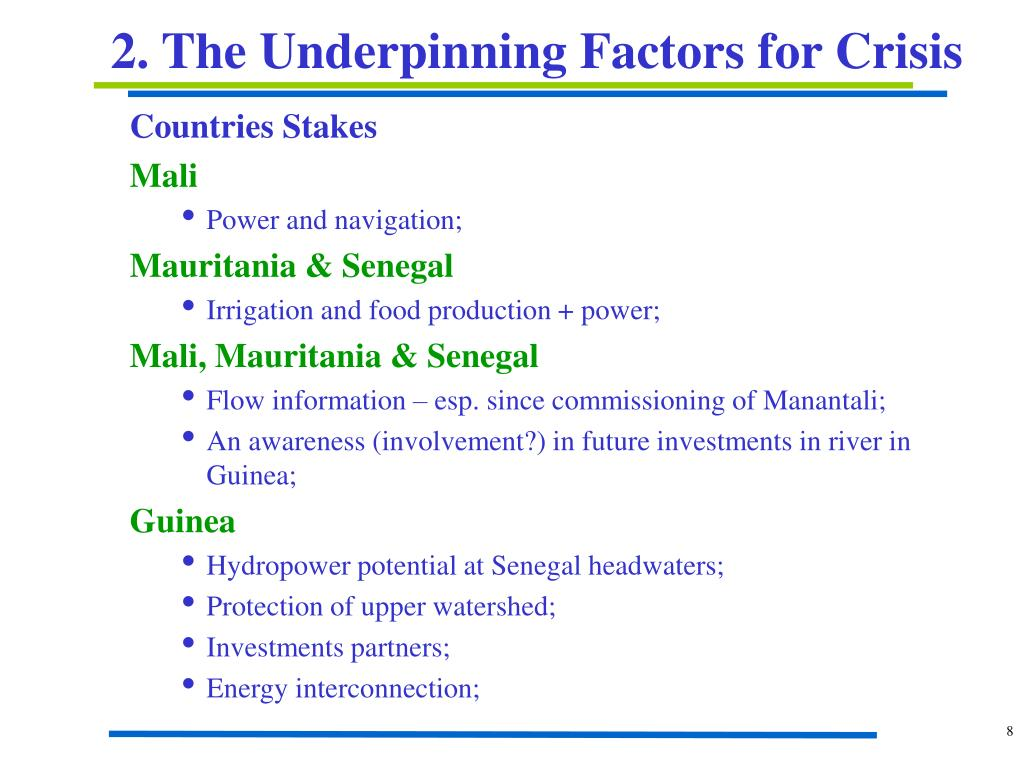 2. The Underpinning Factors for Crisis