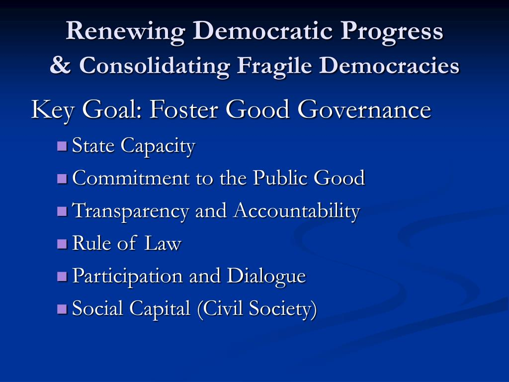Renewing Democratic Progress