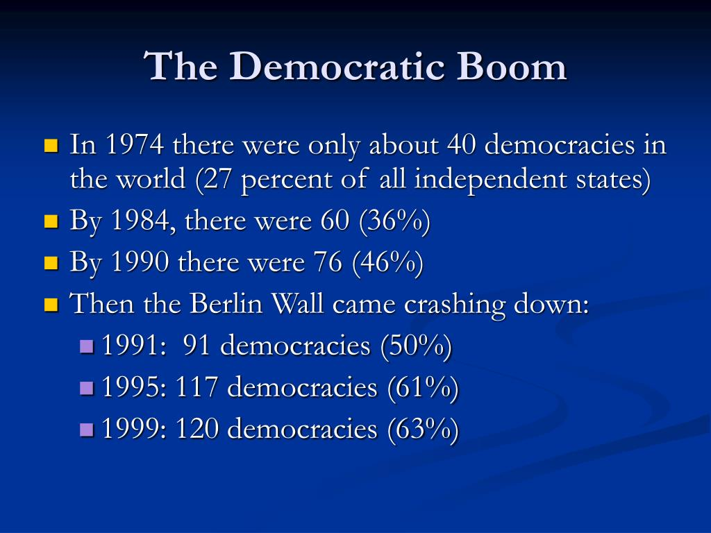 The Democratic Boom