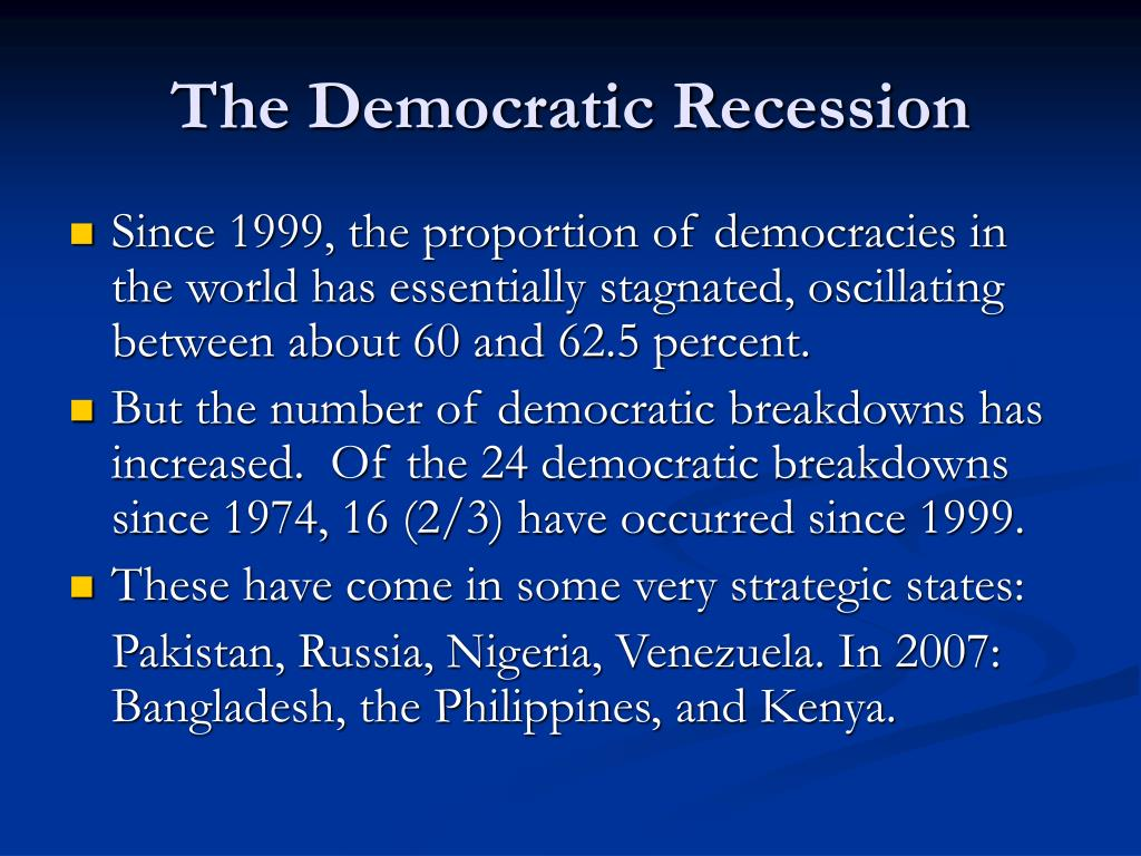 The Democratic Recession