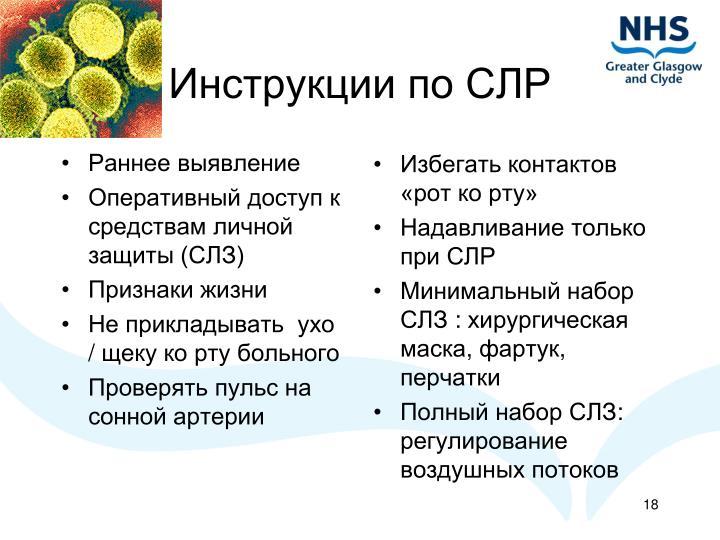Инструкции по СЛР