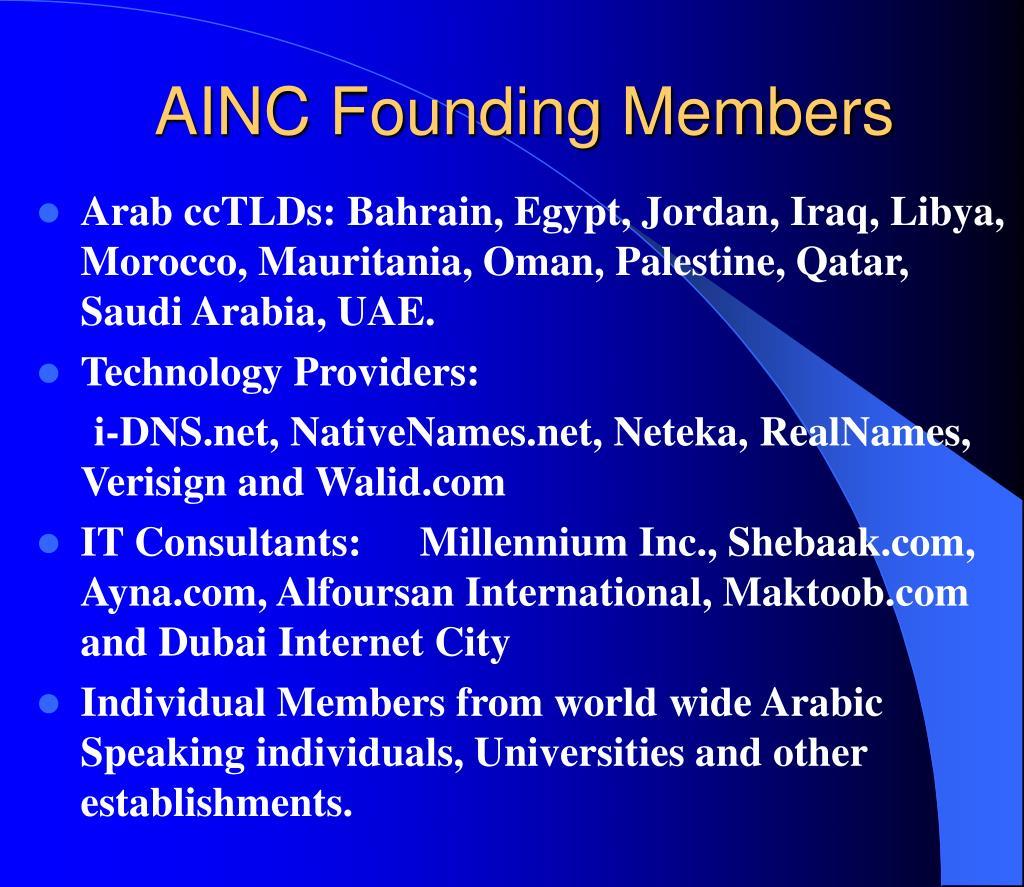 AINC Founding Members