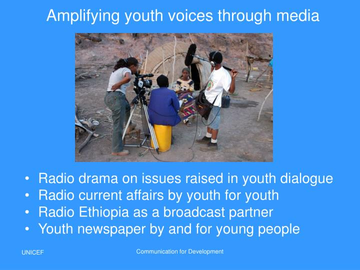 Amplifying youth voices through media