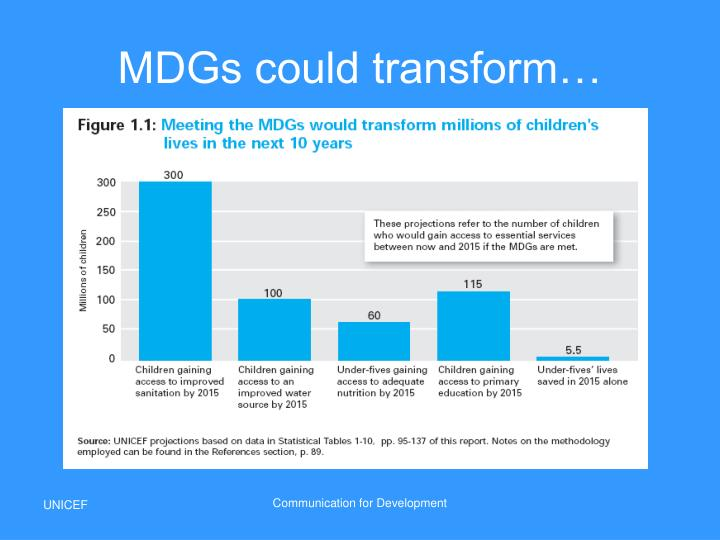 MDGs could transform…