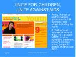 unite for children unite against aids