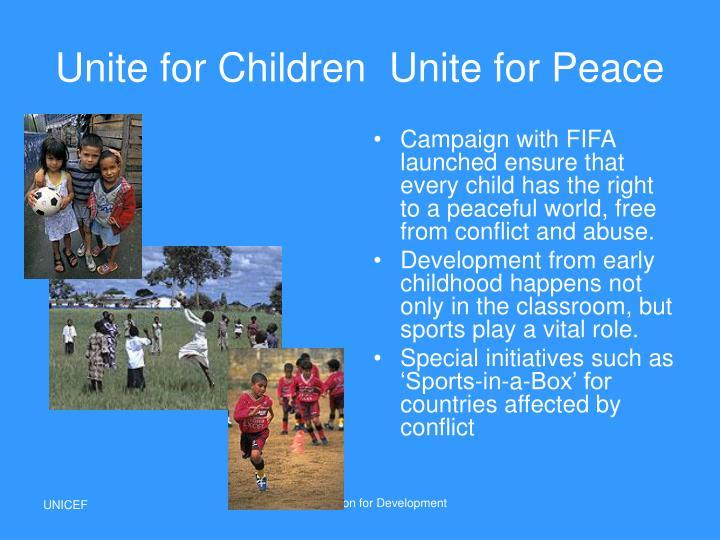 Unite for ChildrenUnite for Peace