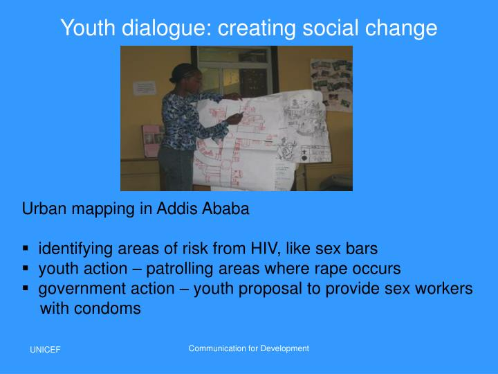 Youth dialogue: creating social change